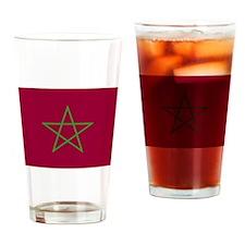 Morroco Flag Drinking Glass