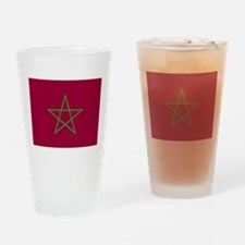 Morroco Flag Drinking Glass
