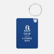 Keep Calm and Get a Zombie Wife - FULL Keychains
