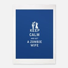 Keep Calm and Get a Zombie Wife - FULL 5'x7'Area R
