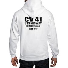 USS Midway CV-41 CVA-41 Hoodie