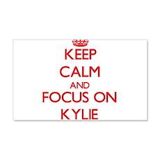 Keep Calm and focus on Kylie Wall Decal