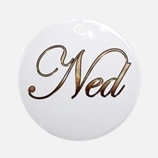 Ned Ornament (Round)