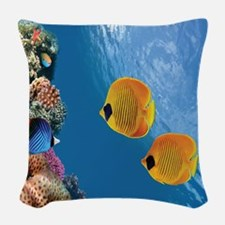 Coral Colony Woven Throw Pillow
