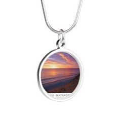 Cute Christopher Silver Round Necklace