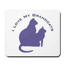 I Love My Grandcats 111 Mousepad