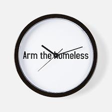 arm the homeless Wall Clock
