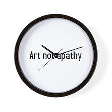 art not apathy Wall Clock
