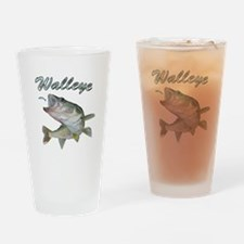 Walleye Turning up Drinking Glass
