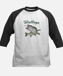 Walleye Turning up Baseball Jersey
