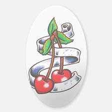 Tatt Cherry Sketch Bumper Stickers