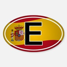 Spanish Oval Car Sticker - Flag Design