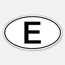 Spanish Oval Car Sticker - E For Espana