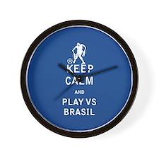 Keep Calm and Play Vs Brasil - FULL Wall Clock