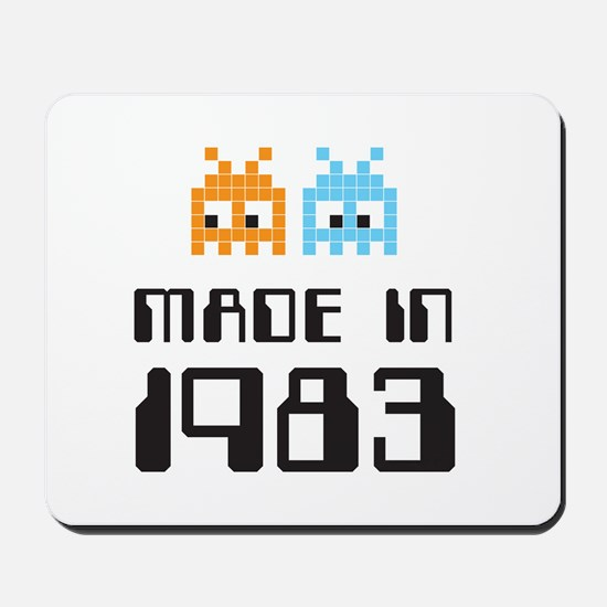Made In 1983 Retro Arcade Character Mousepad