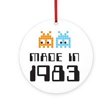 Made In 1983 Retro Arcade Character Ornament (Roun