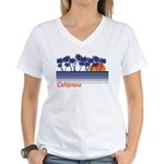 California Women's V-Neck T-Shirt