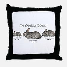 The Chinchilla Rabbits Throw Pillow