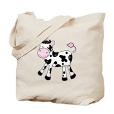 Black and White Dairy Cute Cow Tote Bag