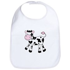 Black and White Dairy Cute Cow Bib