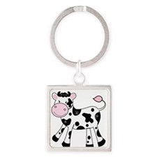 Black and White Dairy Cute Cow Keychains