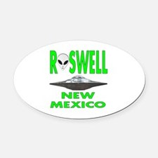Roswell New Mexico.png Oval Car Magnet