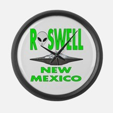 Roswell New Mexico.png Large Wall Clock