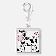 Black and White Dairy Cute Cow Charms
