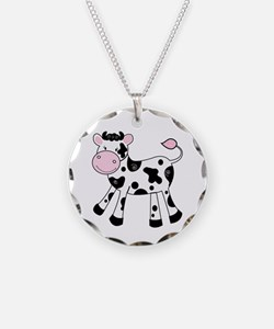 Black And White Dairy Cute Necklace