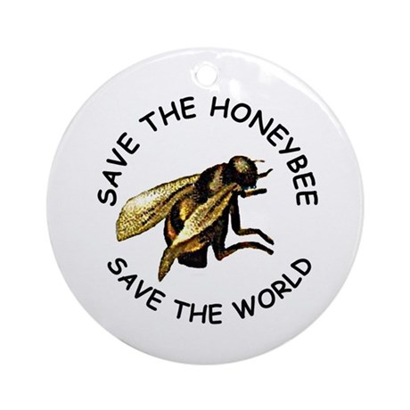 Save The Bee Ornament (Round)