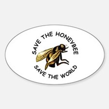 Save The Bee Sticker (Oval)