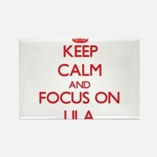 Keep Calm and focus on Lila Magnets
