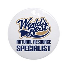 Natural resource specialist Ornament (Round)