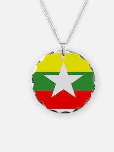Myanmar Flag Necklace