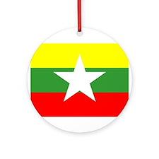 Myanmar Flag Ornament (Round)