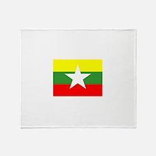 Myanmar Flag Throw Blanket