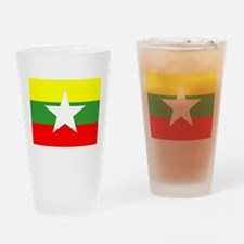 Myanmar Flag Drinking Glass