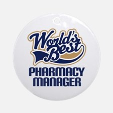 Pharmacy manager Ornament (Round)
