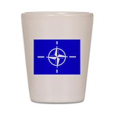Nato Flag Shot Glass