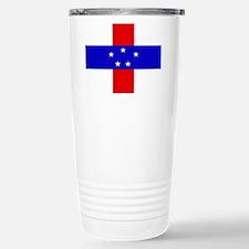 Netherlands Antilles Flag Travel Mug