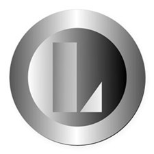 Polished Steel (L) Round Car Magnet