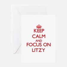 Keep Calm and focus on Litzy Greeting Cards