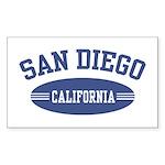 San Diego Rectangle Sticker