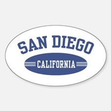 San Diego Oval Decal