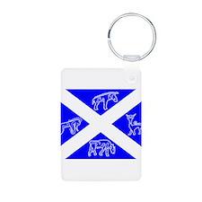 Pictish Scotland Flag #1 Keychains