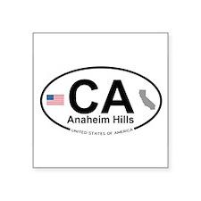 """Unique Anaheim california Square Sticker 3"""" x 3"""""""