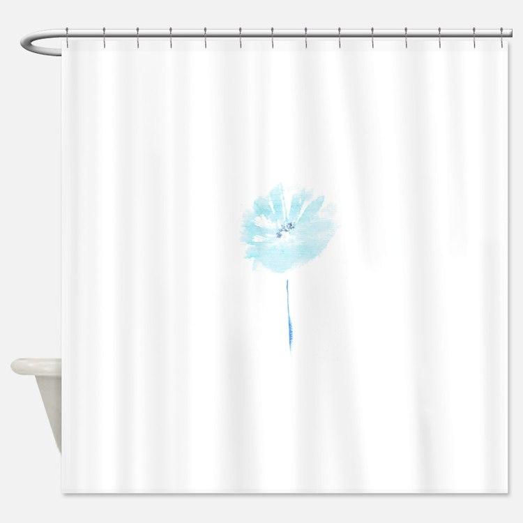 FLEUR BLEUE Shower Curtain