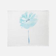 FLEUR BLEUE Throw Blanket