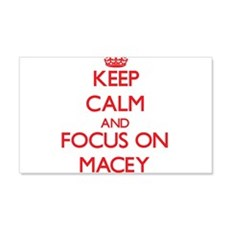 Keep Calm and focus on Macey Wall Decal