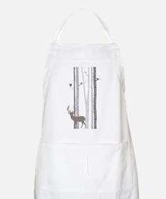 Birch Trees with Deer Apron